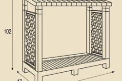 Схема размеров дровницы