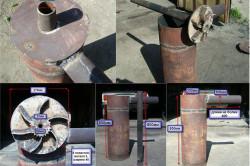 Размеры элементов печи длительного горения «Бубафоня»