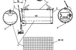 Схема круглой разборной печи
