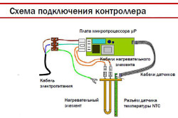 Схема подключения контролера электрического водонагревателя