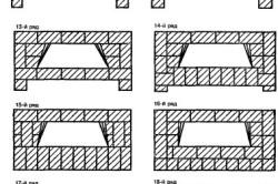 Схема порядовки камина с фундаментом
