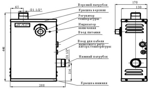 Схема устройства электрического котла