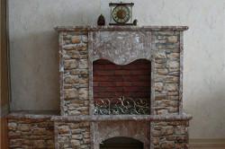 Фальш-камин из камня