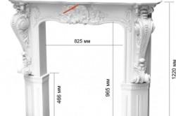 Размеры мраморного портала