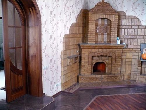 Кирпичный камин