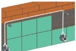 Правильное размещение отвеса при монтаже плитки