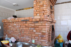 Русская печь в процессе постройки
