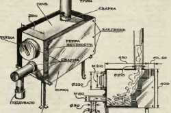 Схема устройства печи длительного горения