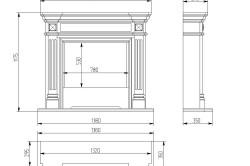 Схема портала камина