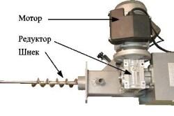 Схема устройства некоторых деталей отопительного котла на пеллетах