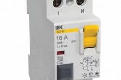 Двухполюсное УЗО для установки на однофазную 2 или 3 проводную линии