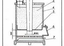 Схема конструкции печи на опилках