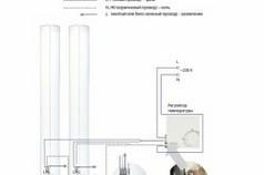 Схема подключения ИК потолочного обогревателя