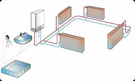 Общая схема подключения водонагревателя