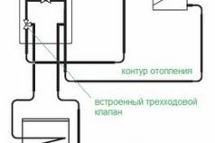 Схема подключения бойлера с трехходовым клапаном