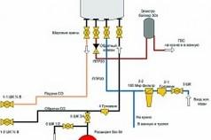 Схема подключения двухконтурного котла с бойлером/накопителем
