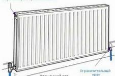 Схема подключения стального радиатора