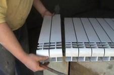 Добавление секций радиатора