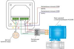 Схема датчика протечек