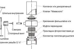 Схема монтажа полотенцесушителя