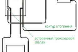 Схема подключения одноконтурного газового котла к отоплению и бойлеру косвенного нагрева