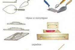 Инструменты для оштукатуривания печи