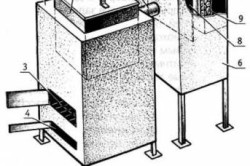 Схема двухкорпусной металлической печи