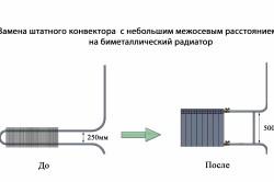 Схема монтажа батарей
