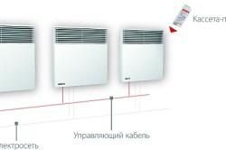 Схема монтажа электрических конвекторов