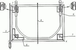Схема облицовки печи плиткой маяки