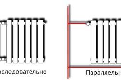 Схема примеров подключения радиаторов.