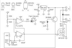 Схема простого зарядного устройства для солнечных батарей