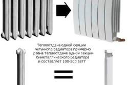 Схема расчета радиаторов и батарей отопления