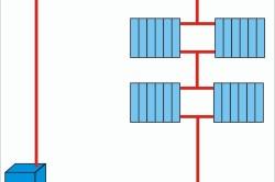 Схема смешанной последовательной системы отопления