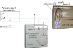 Схема установки электрообогревателя