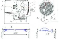 Схема устройства газовой тепловой пушки