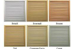 Различные цвета решеток для радиаторов