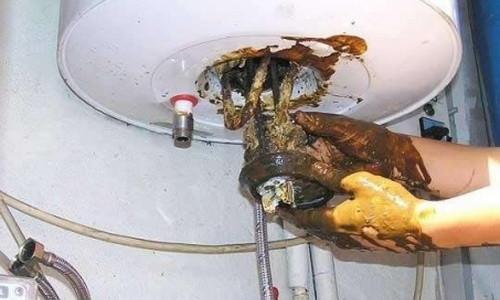 Демонтаж нагревательного элемента бойлера