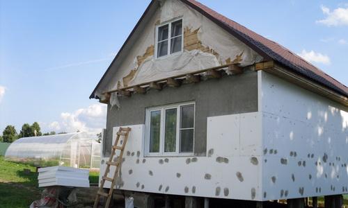 Утепление пенопластом фасада дома