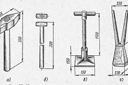 Деревянная и металлическая трамбовка
