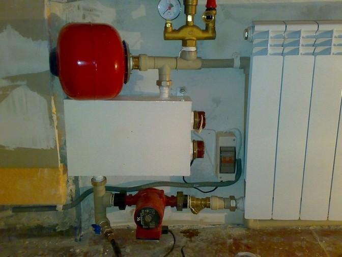 Система отпления с самодельным электрокотлом