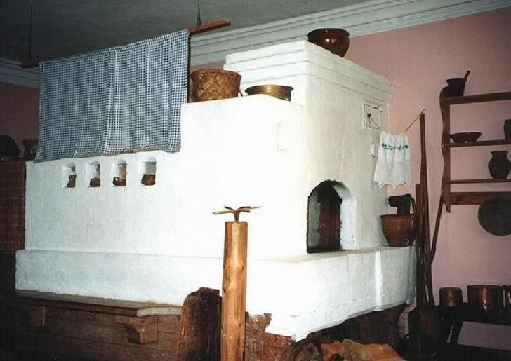 Пример печи с лежанкой