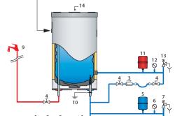 Схема подключения для использования только в качестве электрического водонагревателя