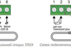 Схема кабеля теплого пола