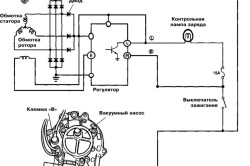 Схема подключения генератора и расположение его контактных клемм (дизельные модели)