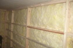 Стена утепленная стекловолокном