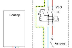 Схема подключения бойлера к электросети