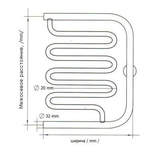 Схема электросварного полотенцесушителя