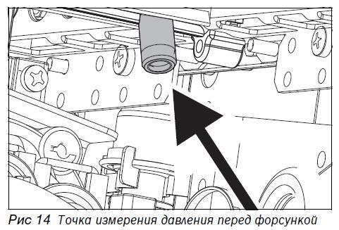 Схема регулировки давления перед форсункой газовой колонки.