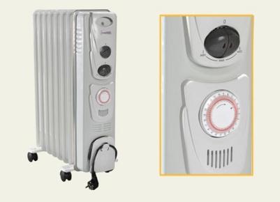 Плюсом масляных радиаторов является их мобильность и встроенный таймер.